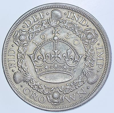 Rare 1930 Wreath Crown British Silver Coin George V (Only 4878 Struck)
