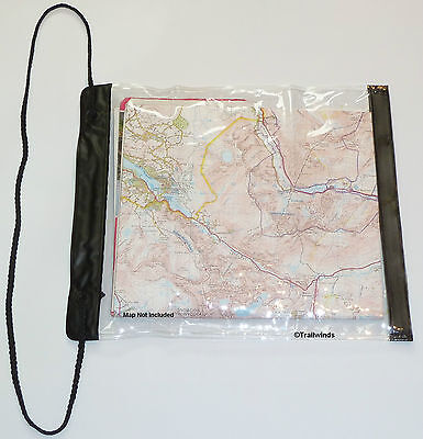 Map Case Protection Clear Velcro Closure Hiking Camping Scouts Cadets Durable