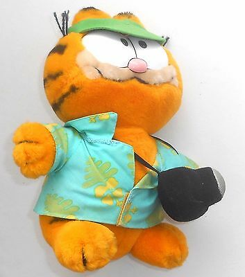 "Vintage 1980's Garfield The Cat - THE TOURIST - 8"" Plush Toy - Jim Davis (OG9)"
