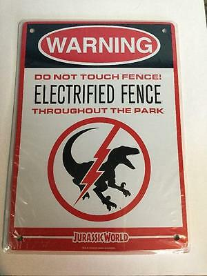 Loot Crate March Exclusive Jurassic World Electrified Fence Sign - NIP