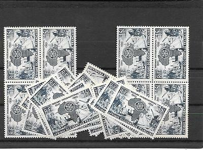 FRENCH WEST AFRICA- Quantity of single-set Rotary Int'l Stamps- low price