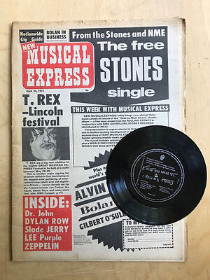 Rolling Stones Nme/flexi Magazine April 29 1972 With Free Exile On Main Street F