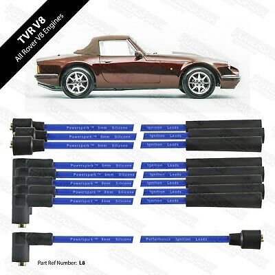 Rover V8 8mm Blue HT Leads Performance Double Silicon leads
