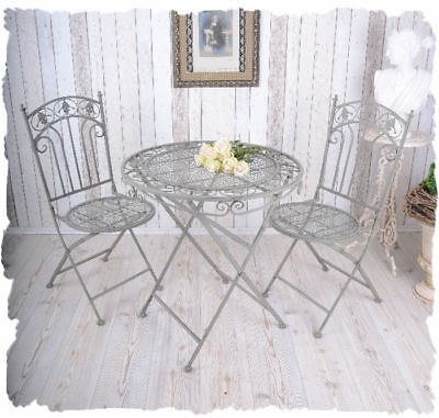 nostalgischer gartentisch shabby chic eisentisch runder tisch antik eur 65 79 picclick de. Black Bedroom Furniture Sets. Home Design Ideas