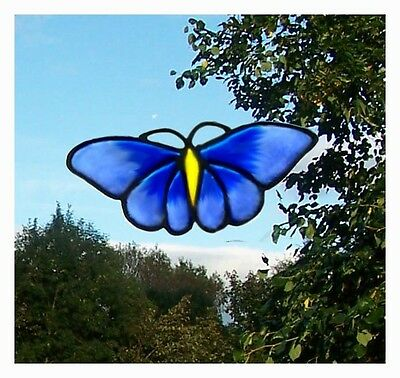 Single Butterfly stained glass effect window cling