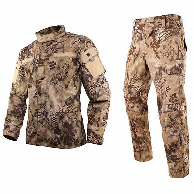 HIGHLANDER Military BDU Uniform Set Shirt Pants Kryptek Tactical Hunting Airsoft