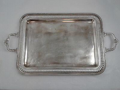 "Serving Tray with handles - 17.5 "" x 12.5 "" - Sterling Silver .925 - 1336 grams"