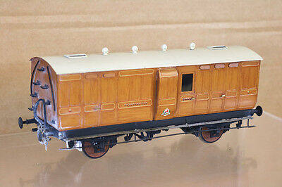 LAWRENCE SCALE MODELS O GAUGE METROPOLOITAN RAILWAY MET 4 WHEEL GUARD COACH nk
