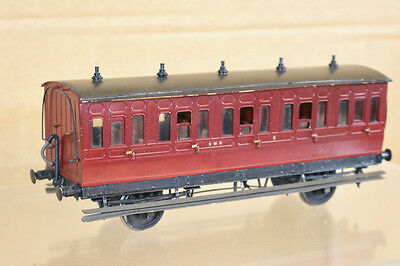 LAWRENCE SCALE MODELS O GAUGE KIT BUILT SWR MAROON 4 WHEEL PASSENGER COACH 5 nk