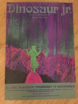 Dinosaur Jr. - gig poster, Give A Glimpse Of What Yer Not, Glasgow- Nov 2016