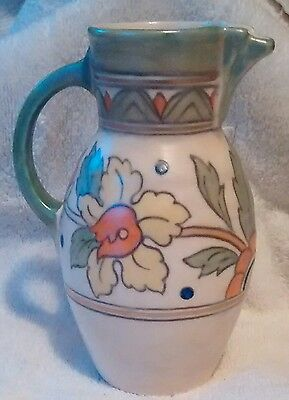 Vintage crown  Ducal pitcher beautiful art deco flower Art