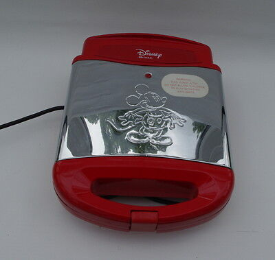 Ariete Disney Rare 4 Slice Mickey Mouse Waffle Maker - Red Waffle Maker VGC