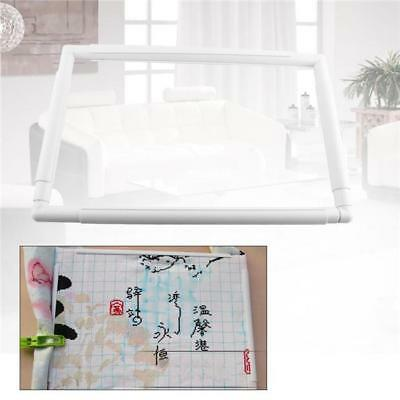 5Size Plastic Rectangle Embroidery Frame Sit On Cross Stitch Handle Hoop Tool LA