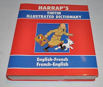 HARRAP'S TINTIN Illustrated Dictionary English-French Dictionary 1990 Herge - rj