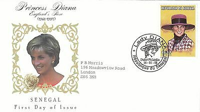 (02383) Senegal FDC Princess Diana Death 16 January 1998