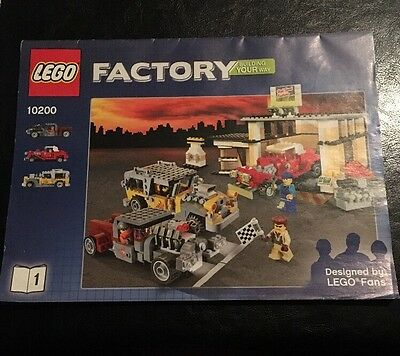 Lego Factory Custom Cars Garage From 2008 Set 10200 Instruction Booklets