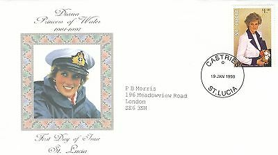 (02042) St Lucia FDC Princess Diana Death 19 January 1988