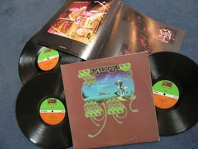 "YES ""Yessongs"" Triple Gatefold LP Set c/w Booklet - Atlantic Records K60045"