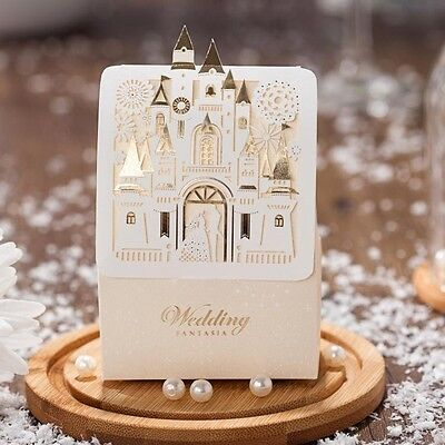 50/100pcs Cadny Box Love Castle Shape Wedding Party Favor Gift Chocolate Boxes