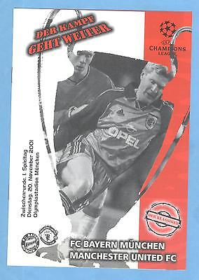 FC Bayern Muenchen v Manchester United UEFA Champions League 2001/02 PROGRAMME