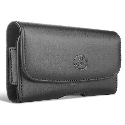 Horizontal Black Leather Holster Pouch Carry Case with Belt Clip for iPhone 6