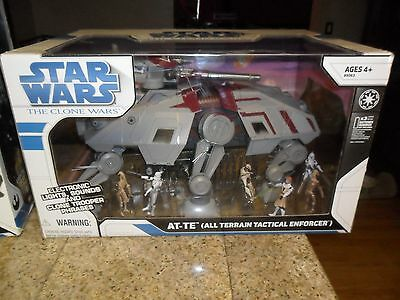 Star Wars The Clone Wars At-Te All Terrain Tactical Enforcer & Figures In Box