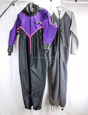 OS Systems Mens Medium Back Entry Dry Suit Drysuit W/ Light Weight Undergarment