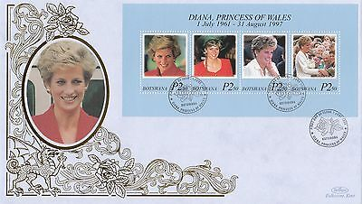 (02007) Botswana Benham FDC Princess Diana Death minisheet 1 June 1998
