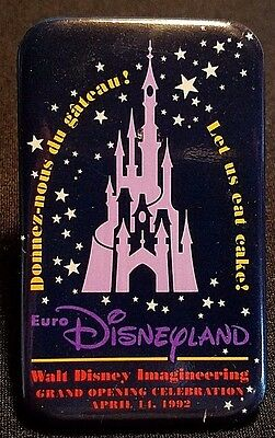 Very Rare 1992 Euro Disneyland Grand Opening Imagineering Cast Party Button