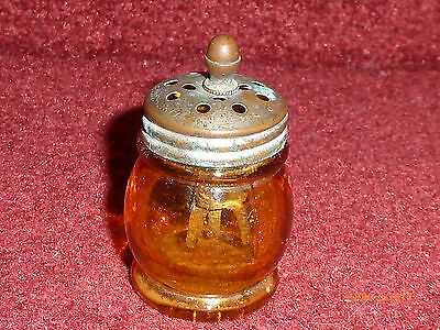 Antique Boston Sandwich Amber Christmas Salt 1877