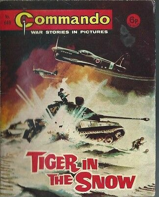 Tiger In The Snow,commando War Stories In Pictures,no.649,war Comic,1972