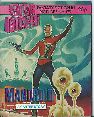 Mandroid,starblazer Fantasy Fiction In Pictures,comic,no.179,1986