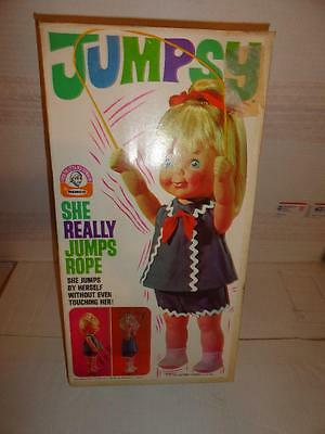 1969 / 1970 Remco Jumpsy Doll She Really Jumps Rope New In Box Unused
