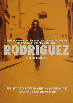 Sixto Rodriguez 2012 Tour Flyer - Searching For Sugar Man