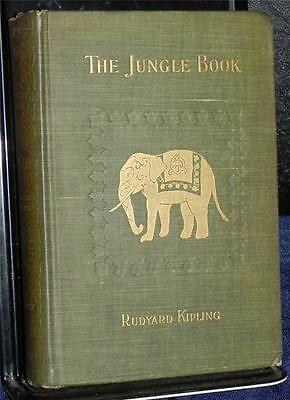 The Jungle Book SIGNED by RUDYARD KIPLING ~ 1st Edition Book 1894 ~ Disney