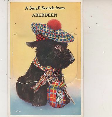 Aberdeen. A Small Scotch. 1962  novelty postcard, Some wear. Stamp removed. Used