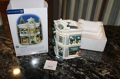 Dept 56 Holiday Starbucks Coffee House Original Snow Village Hand Painted W/Tag