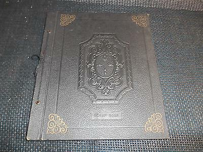 Old Vtg Black SCRAP BOOK 24 Double Sided Blank Pages
