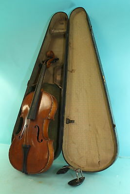 Antonius Stradivarius Copy Marked #2 German Made Wooden String Violin Instrument