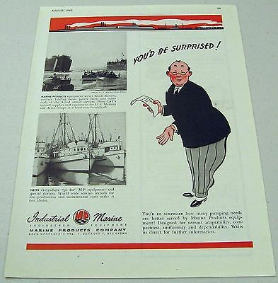 1945 Print Ad Industrial Marine Products WW2 Landing Craft,Beach Busters Detroit