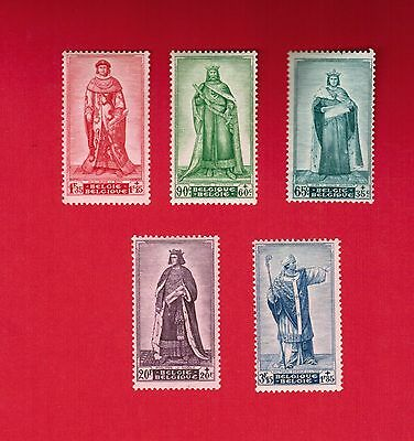 1947  # 437 to 441 *  TIMBRES BELGIQUE  BELGIUM  STAMPS  VFH  PERSONNAGES