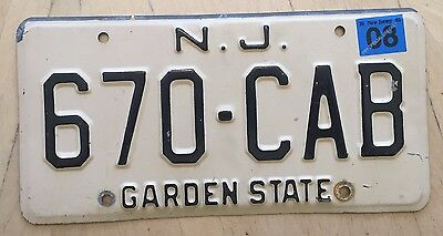 "New Jersey Auto Passenger License Plate "" 670 Cab "" Nj Taxi Taxicab Cabbie Hack"