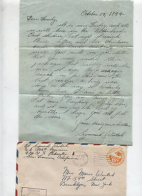 World War II WWII LOVE LETTER South Pacific Theater Military Army Soldier WESTAD