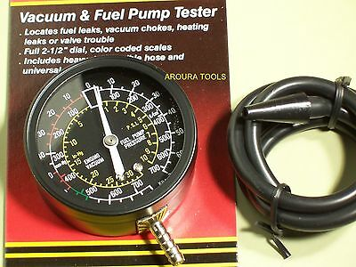 Vacuum & Fuel Pump Tester Gauge - New.