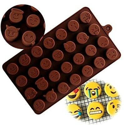 aus seller.. EMOJI FACES CHOCOLATE/SOAP  SILICONE MOULD
