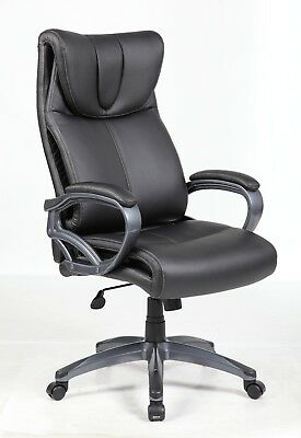 Modern Office Executive Chair PU Leather Computer Desk Task Soft Seat Padded