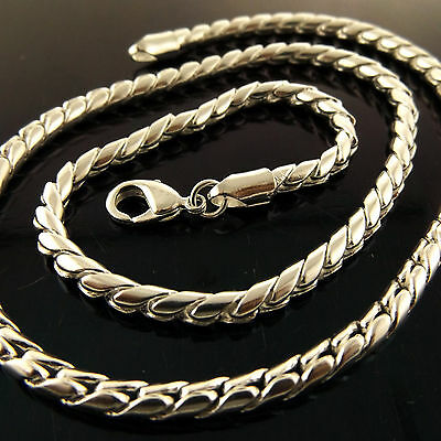 A947 Genuine Real 925 Sterling Silver S/f Solid Unisex Mens Women Necklace Chain