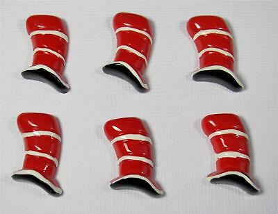 BB FLATBACKS CAT IN THE HAT pk of 6 resin flatback hair bows DR SEUSS