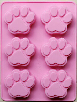 6 Cat Paw &12 Flowers Silicone Baking Pan Cookie Cakes Mold Ice Tray Non Stick