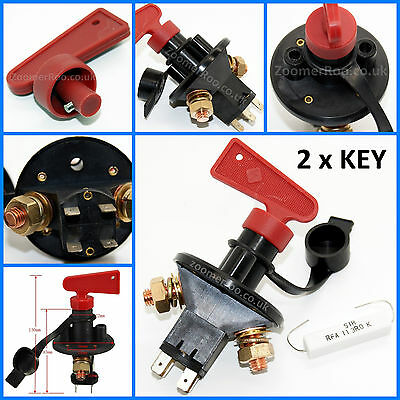 Battery Cut Off Isolator Switch Key FIA Rally Race Boat Universal